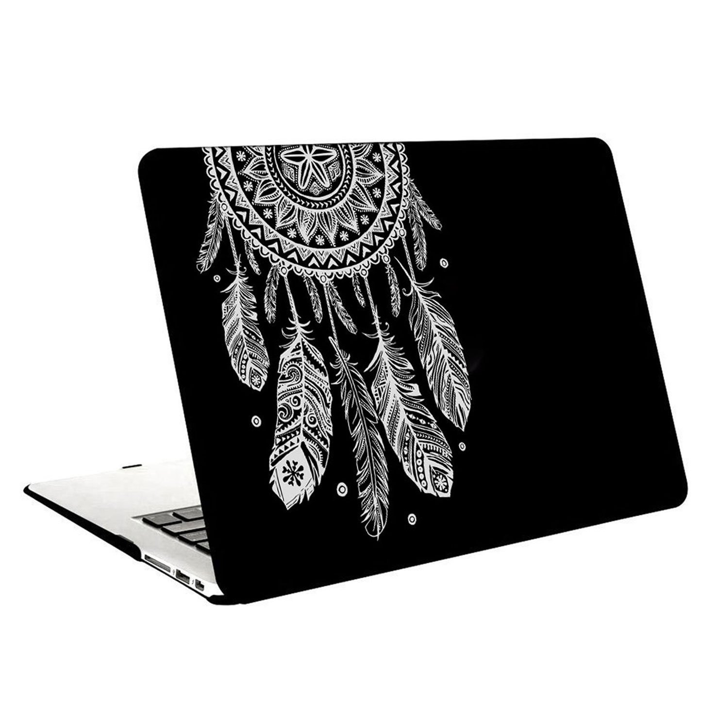"Macbook Pro 13 with Retina Display Case, Leathlux Tribal Black 2 in 1 Plastic Hard Case Protective Cover Slim Solid PC Shell for Apple MacBook Pro 13.3"" with Retina Display Laptops (A1425 / A1502)"