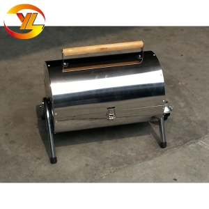 Portable Double Side Half Barrel Gas Bbq Grill For Camping