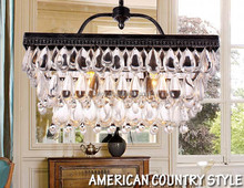 "Modern 2 Bulbs lights L20.5"" X W8"" X H15"" Crystal Chandelier vintage Pendant Lamp RainDrop suspension Light lighting 110V/ 240V"