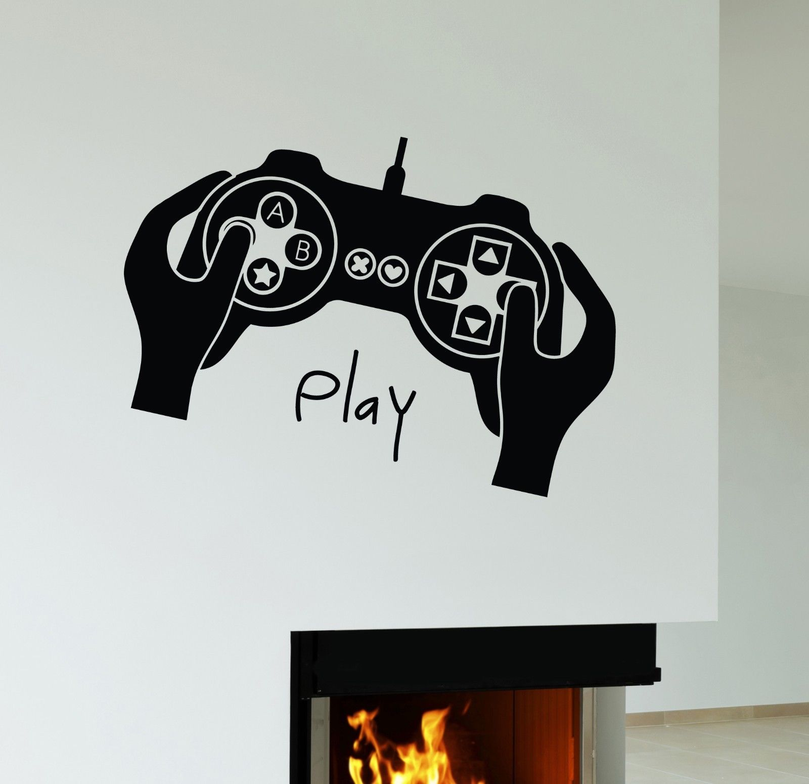 Gamer Video Game Play Room Joystick Pvc Wallpaper Sticker