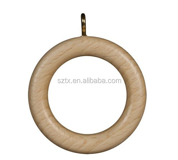 28mm china wood curtain rings for header taped curtains