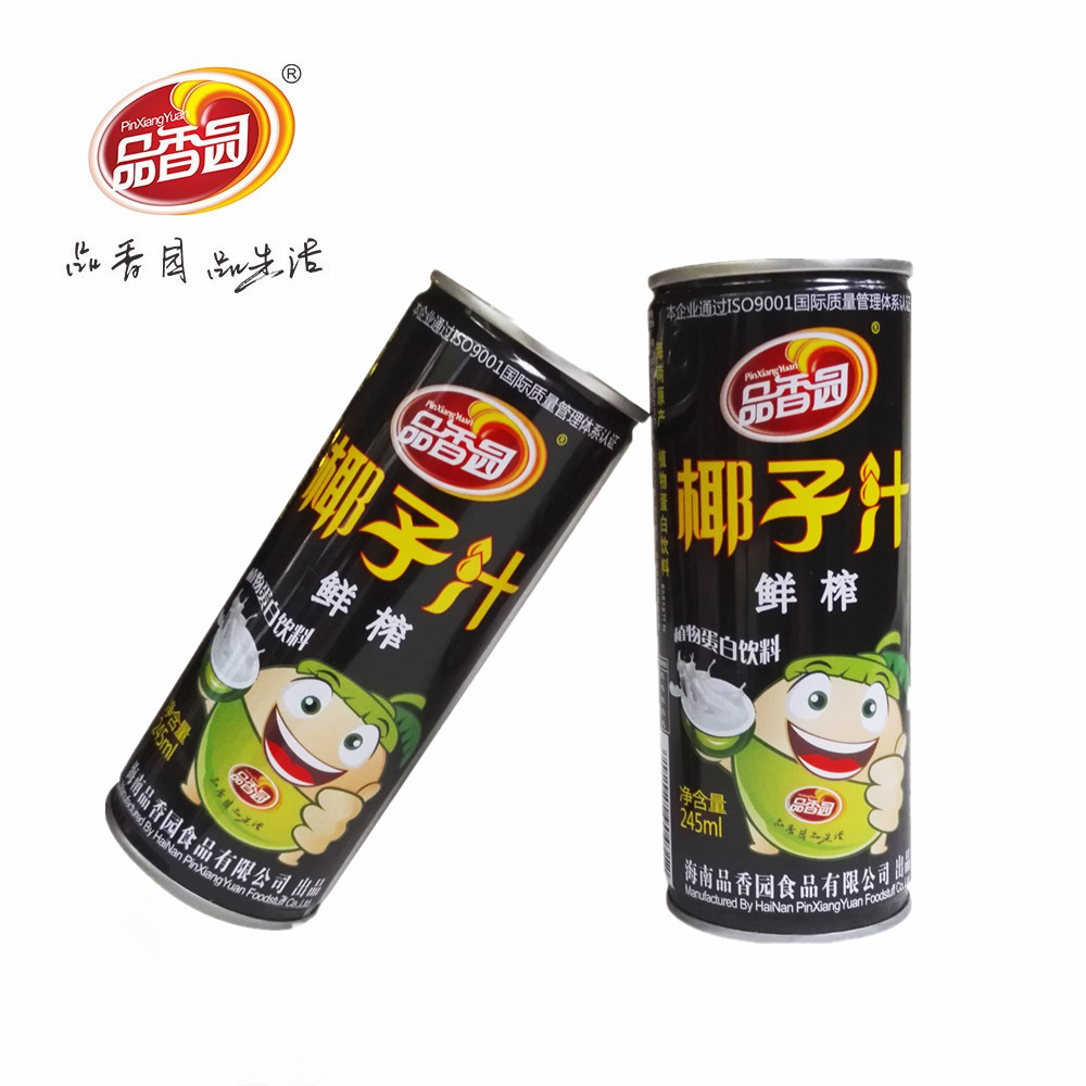 High quality Fresh Squeezed canned coconut milk juice drink in china