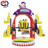 Thrilling kids 10seats fun clown swing chair rides