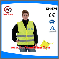 BEST PRICE REFLECTIVE WARNING SAFETY VEST FOR POLICE IN RAINNING DAYS WITH OXFORD FABRIC