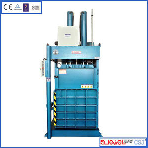 factory sale vertical double-cylinder baling press machine for PET, HDPE, PE