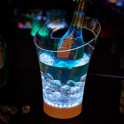 Custom led acrylic colorful ice bucket