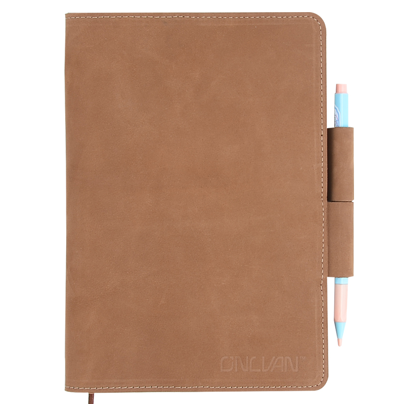 Leather Gift Customized Vintage Leather Notebook and Pen