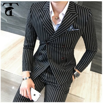 2017 New Fashion Design Trendy Business Formal Stripe Suit For Men Buy Trendy Business Suits For Men Men Suit Fashion Designs Stripe Suit For Men Product On Alibaba Com