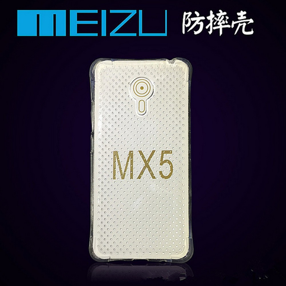For meizu mx5 pro Airbag Shockproof Transparent TPU phone cases for meizu mx5 case