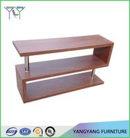 Modern TV Stand Entertainment Book Case Media Center Table Wood Shelf