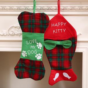 Dog Bone Christmas Stocking.Xmas Decorations Pet Dog Bone Christmas Stockings M8062002