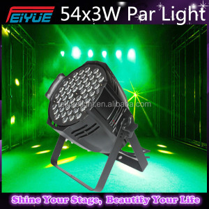 China Disco 54x3w Led Flat Par Light Led Mini Par 64 Stage Lighting for Sale Aluminum Case RGB 3IN1 Color Mixing
