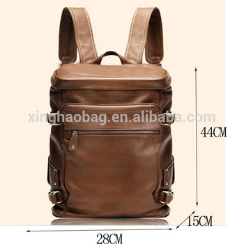 4de699cb66e2 Mens leather rucksack backpack Leisure travel backpack multifunctional bag