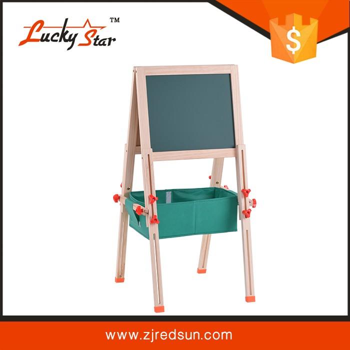 children wood frame writing drawing double side easel kids board for