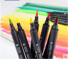 High quality art marker type watercolor brush pen dual tip marker pen wholesale