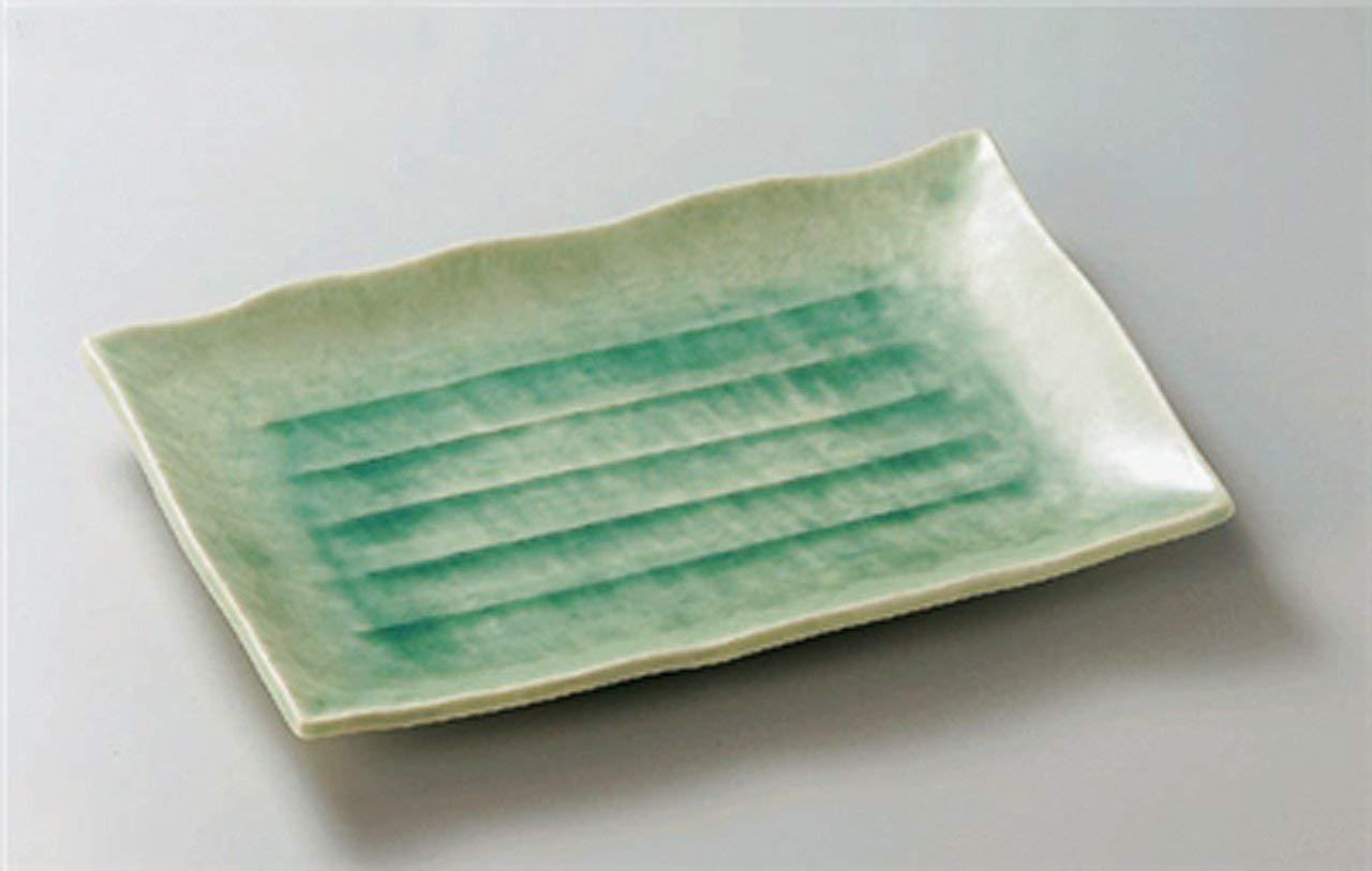 BANKO-YAKI TURKEY-GLAZE JIKI Japanese traditional Porcelain Large Plate made in JAPAN