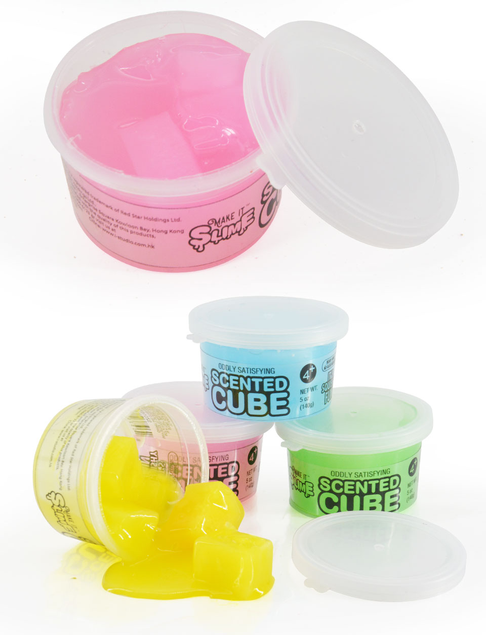 Novelty creative magical Crystal Clear Scented Slime Putty Cool Jelly Cubes Foam Slime Kit