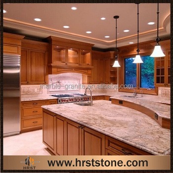 Modular Orange Typhoon Bordeaux Granite Countertops