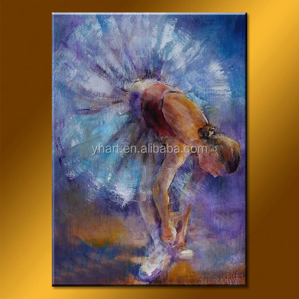Wholesale Handmade Ballet Dancer Picture Lady Figure Painting