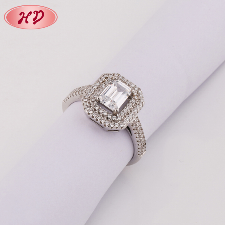 tanishq ladies 18k white gold plated silver engagement big single ...