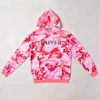 fashion custom logo sublimation printing camouflage hoodie