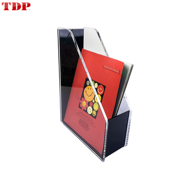 Factory Wholesale High Quality Custom Manufacture Acrylic Magazine Holder for Office or School