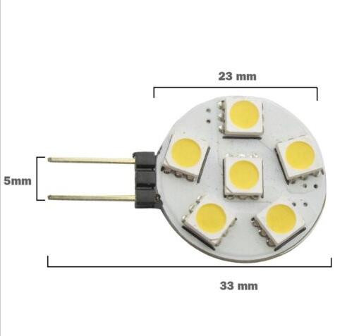 High Power Auto G4 Led 6SMD 5050 6 Led Light Home RV Marine Boat Led Lamps