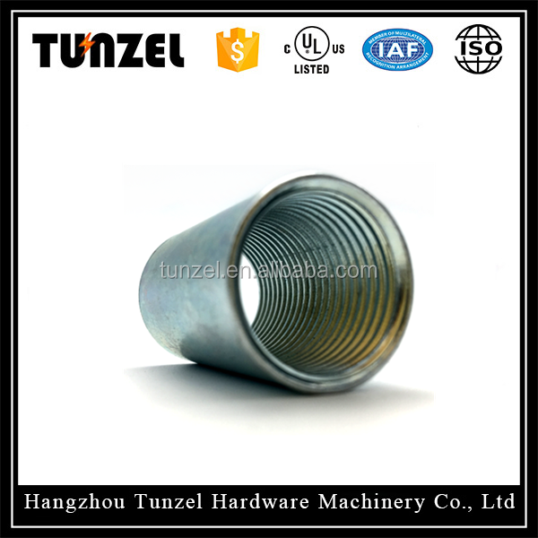 Ul listed hot dip galvanized steel pipe fitting thread rigid coupling