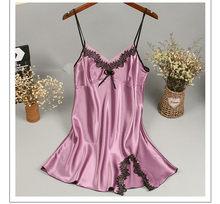 Новинка, китайский женский халат, атласная ночная рубашка, сексуальная ночная рубашка, ночное белье, принт, банное платье, летнее повседневн...(Китай)