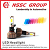 NSSC 12-32V car headlight bulbs 24w 2400lm headlight glass lens 9004 headlight replaces halogen and HID bulbs