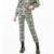 Wholesale women high quality camouflage print sport long pants