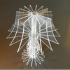 Custom 3D Clear Acrylic Desktop Lamp shade Perspex Crystal Lamp Art Home Deco