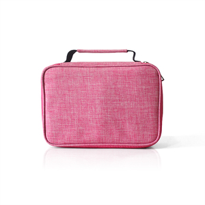 New style polyester cosmetic bag with compartments beauty tote bag