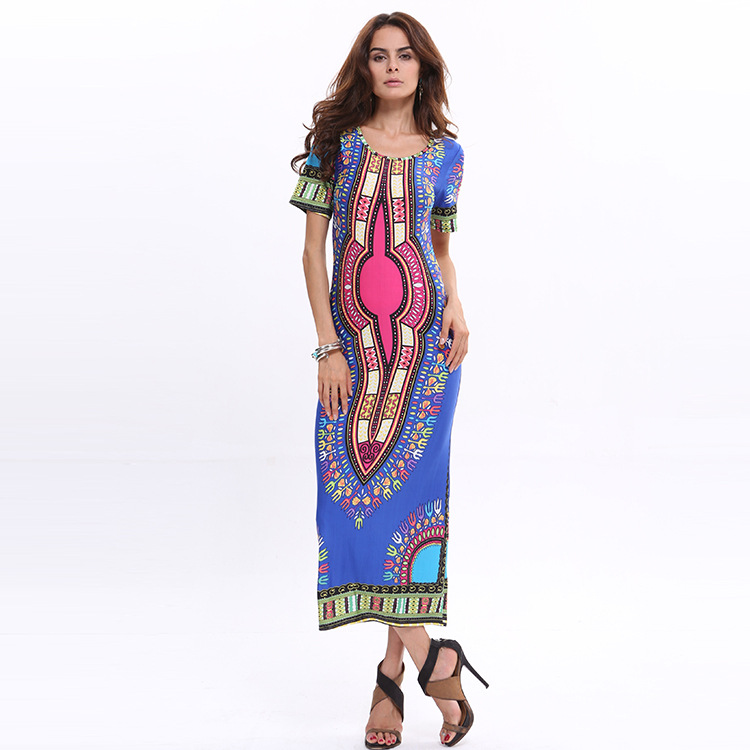 Women African Kitenge Designs Tight Bandage Dress Wholesale Bodycon Dress