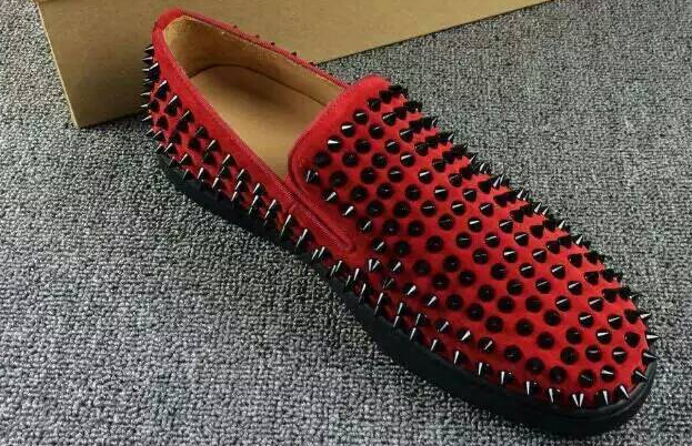 more photos cbfdf a8986 red bottom shoes with spikes