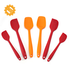 Food-Grade Pastry Materials 6pcs Silicone Spatula Set for Sale