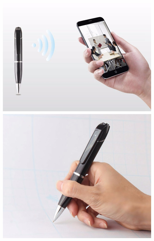 new hd 720p remote control smart wifi video pen camcorder business cloud ip pen camera