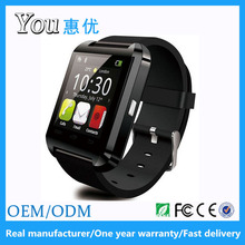 Hot selling MTK6261 bluetooth U8 smart watch for Android Iphone