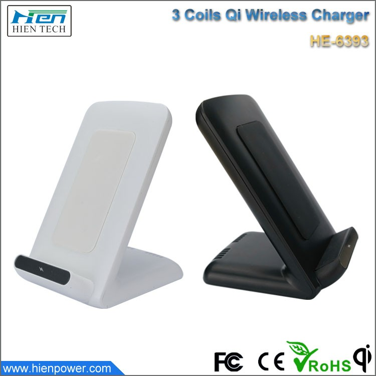 High Quality 3 coils Qi Wireless Charger Fast Charging Pad for iPhone/Tablet PC Nexus 4/5 Nokia