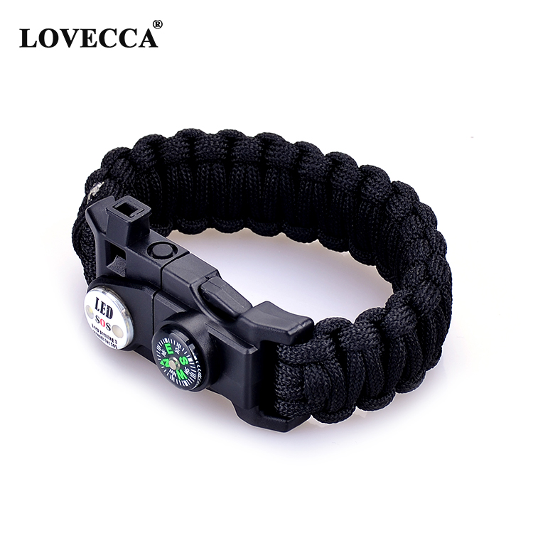 NP-01 Wholesale Sos Led Light Tactical Paracord Survival Bracelet With Logo, Customized