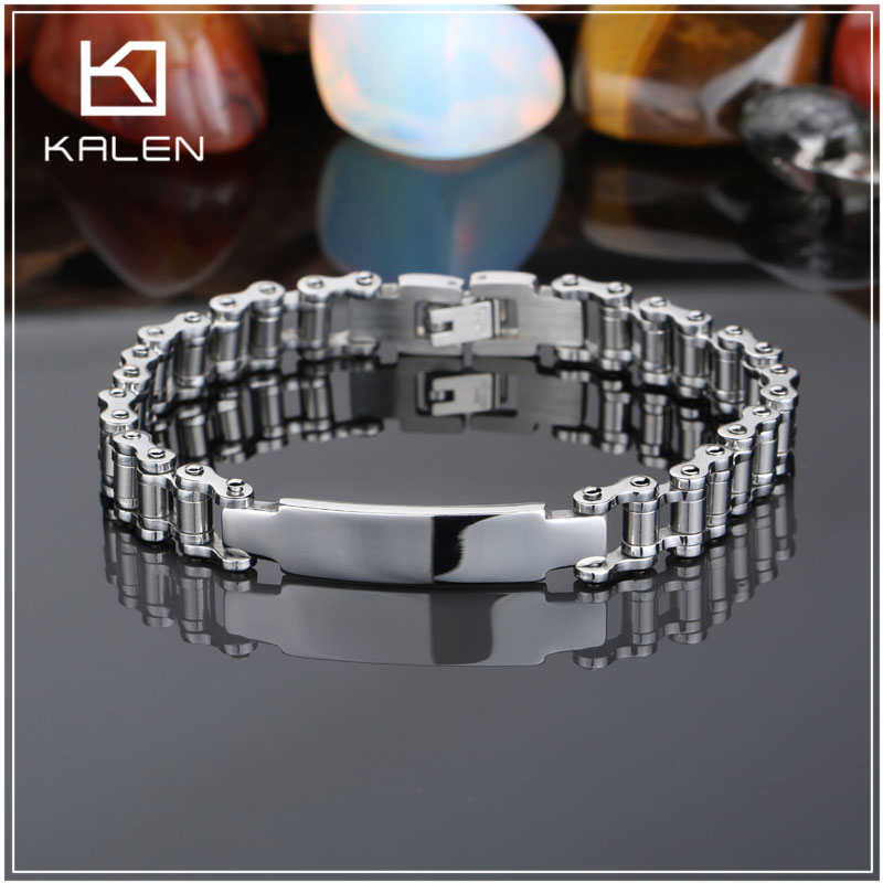 3 inch biker chain bangle bracelets for man