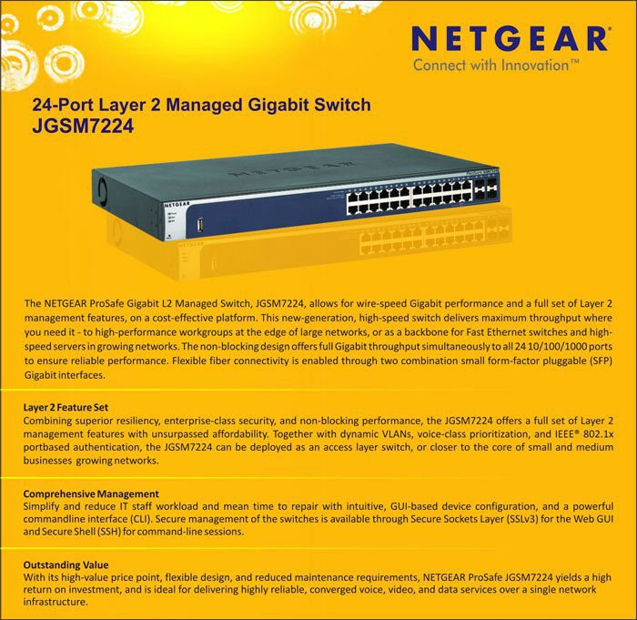 Netgear Jgsm7224-24 Port Layer-2 Managed Gigabit Switch - Buy Gigabit L2  Switch Product on Alibaba com