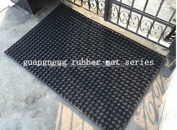 indoor and outdoor commercial use drainage rubber door mat for hall use