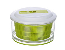 Useful Vegetable Fast Dry Tool Large Capacity Salad Spinner with Stop Button