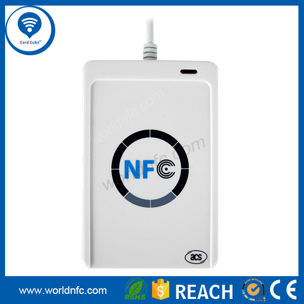 USB 13.56MHz contactless RFID NFC Card Reader/Skimmer price--ACR122U