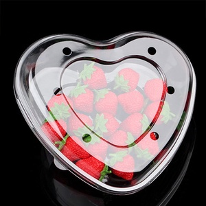 Cute heart shaped blister disposable food plastic packaging boxes strawberry packaging