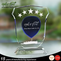 Professional design shield k9 crystal trophy to win warm praise from customers