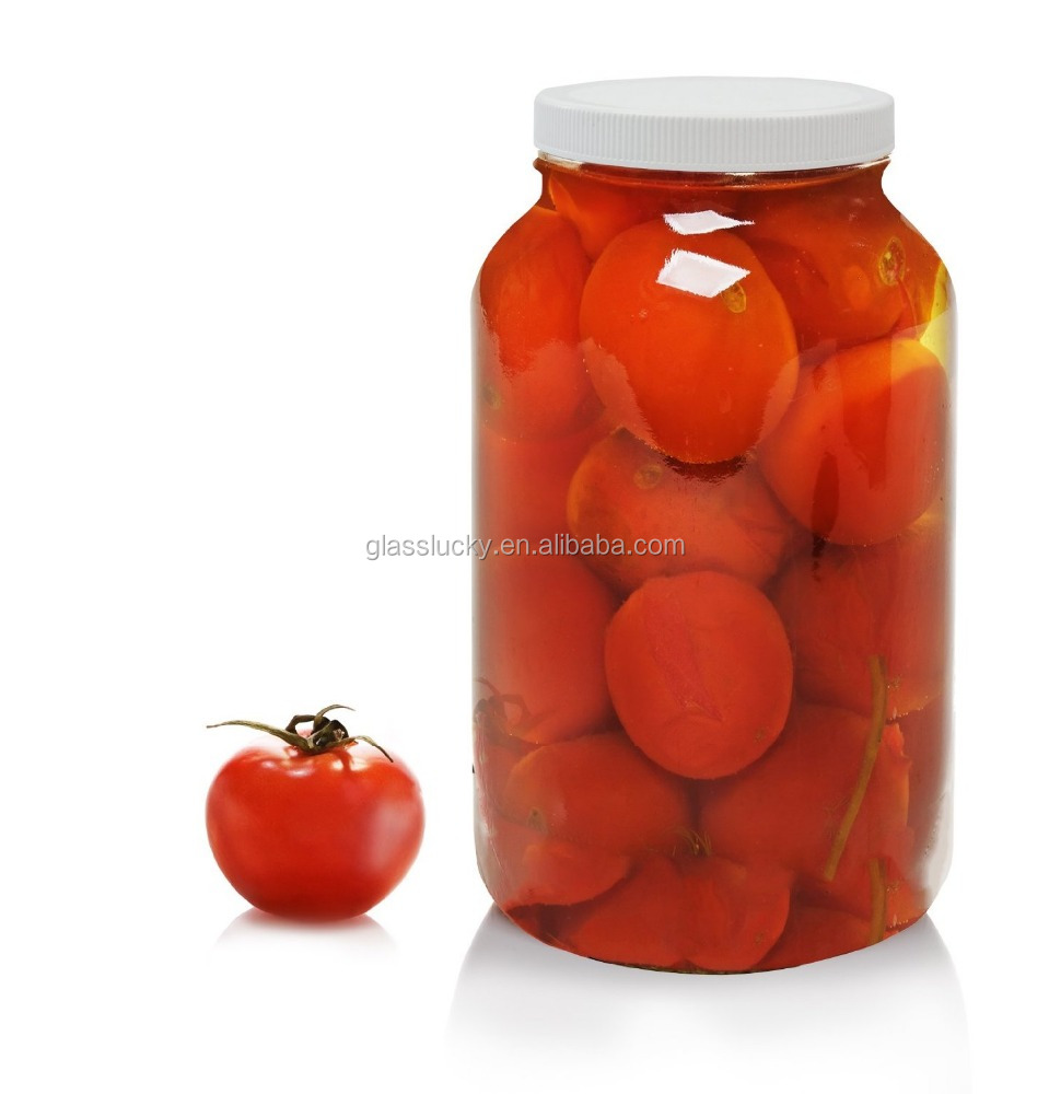 1 galones frasco de vidrio transparente con boca ancha y - Vidrio plastico transparente precio ...