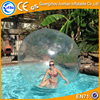 Funny pvc inflatable clear colored plastic ball / walk in plastic water ball for sale