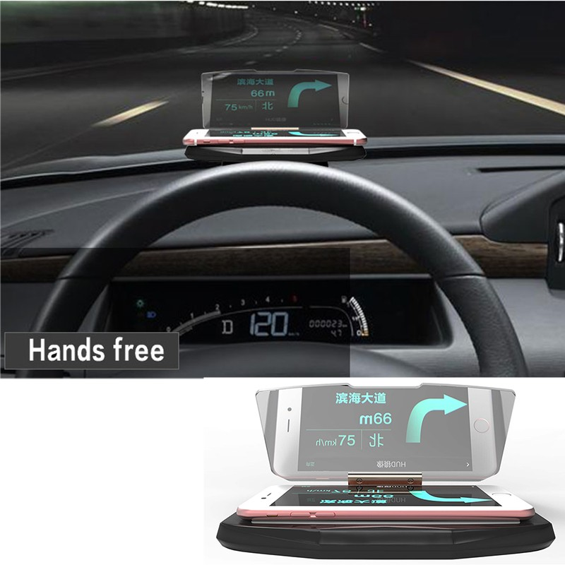 2017 car heads up display mobile phone holder cell phone. Black Bedroom Furniture Sets. Home Design Ideas